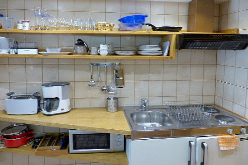 K�che Appartement 4, G�stehaus Claudia