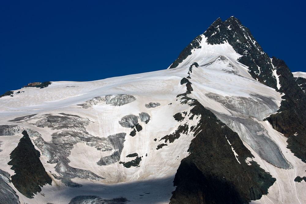 Sicht von der Alm, Gro�glockner 3.798 m