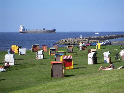 Cuxhavener Strand an der Nordsee
