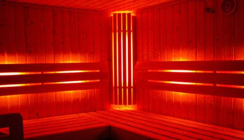 Sauna mit Lichtspiel