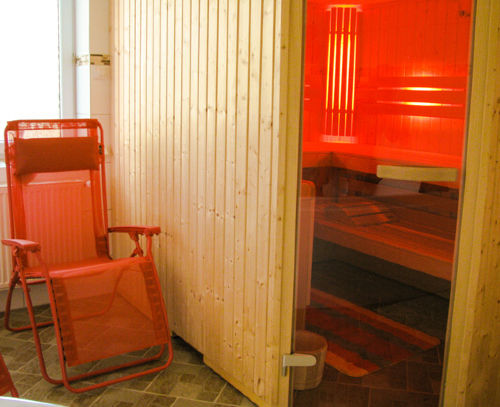Die Sauna in der Wellness-Oase