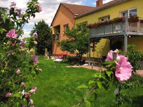 Der Garten mit Liege- und Spielwiese