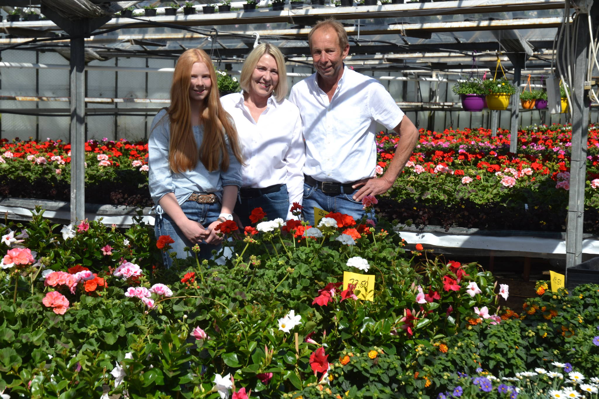 Jens, Sylvia und Lena Rose