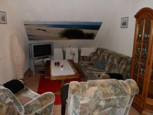 Wohnbereich +TV+Schlafsofa