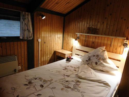 Schlafbereich der Ferienhauses Uhlenhuk