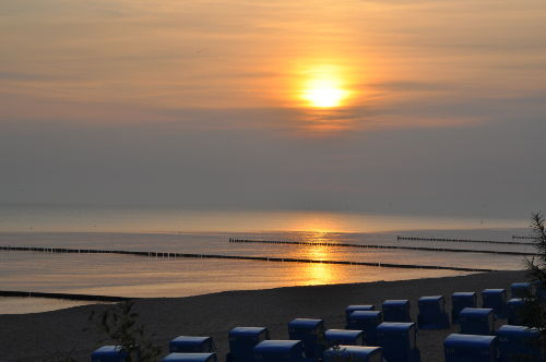Sonnenaufgang am Koserower Strand