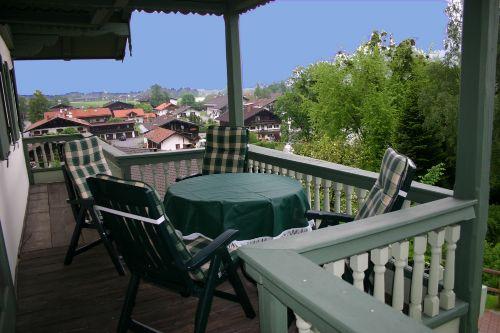 Balkon 1.OG mit Blick Oberaudorf