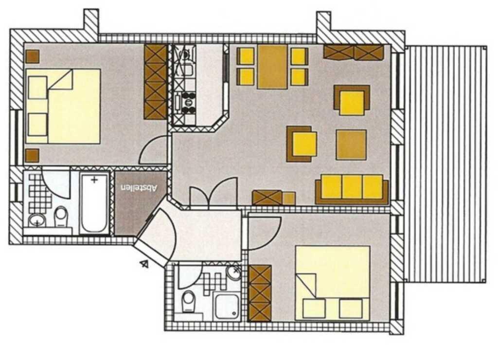 Lux. App. 2 SZ - Villa Hansa- Nr. 2, WiFi inkl.,
