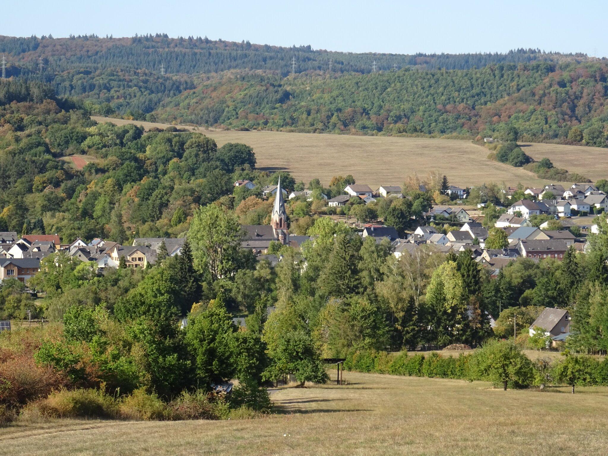Blick von Süden auf Bengel / Kondelwald