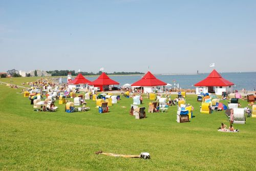 Gr�nstrand in Cuxhaven