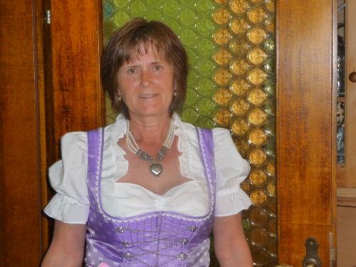 Ihre Gastgeberin Elfriede Breit