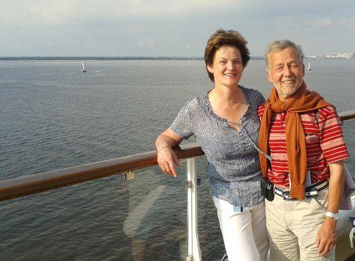 Norbert & Irmgard Bartels auf der Ostsee
