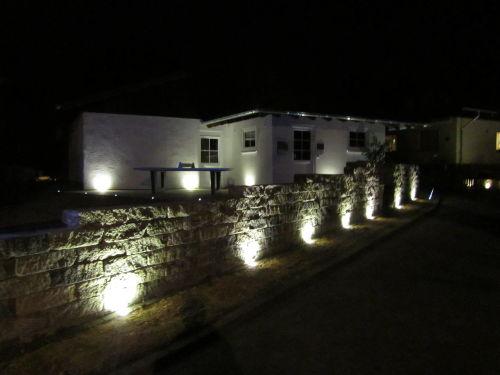Ferienhaus bei Nacht