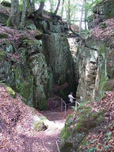 Teufelsschlucht im Naturpark Südeifel