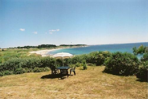 Garten mit Blick auf Strand