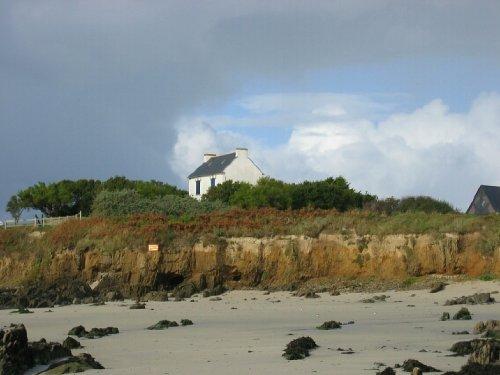 Haus vom Strand aus gesehen
