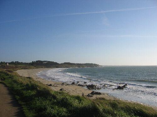 Strand beim Haus