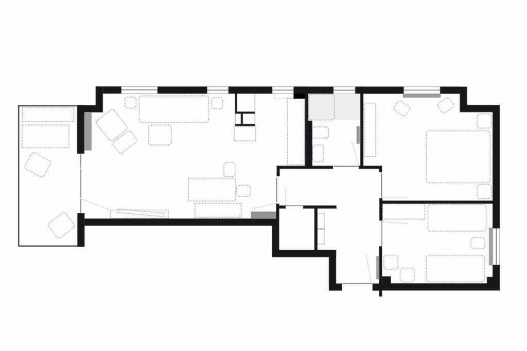 Parkresidenz Concordia, Wohnung Nr. 8, Wohnung