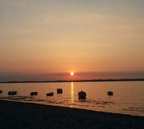 Sonnenuntergang am Strand Lindhöft