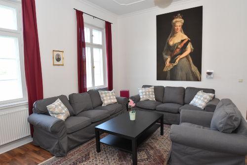 """Wohnbereich in der """"Schlossinsel"""""""