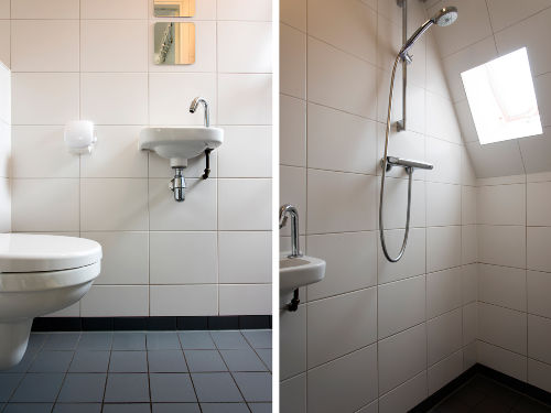Toilette auf dem Erdgescho�.