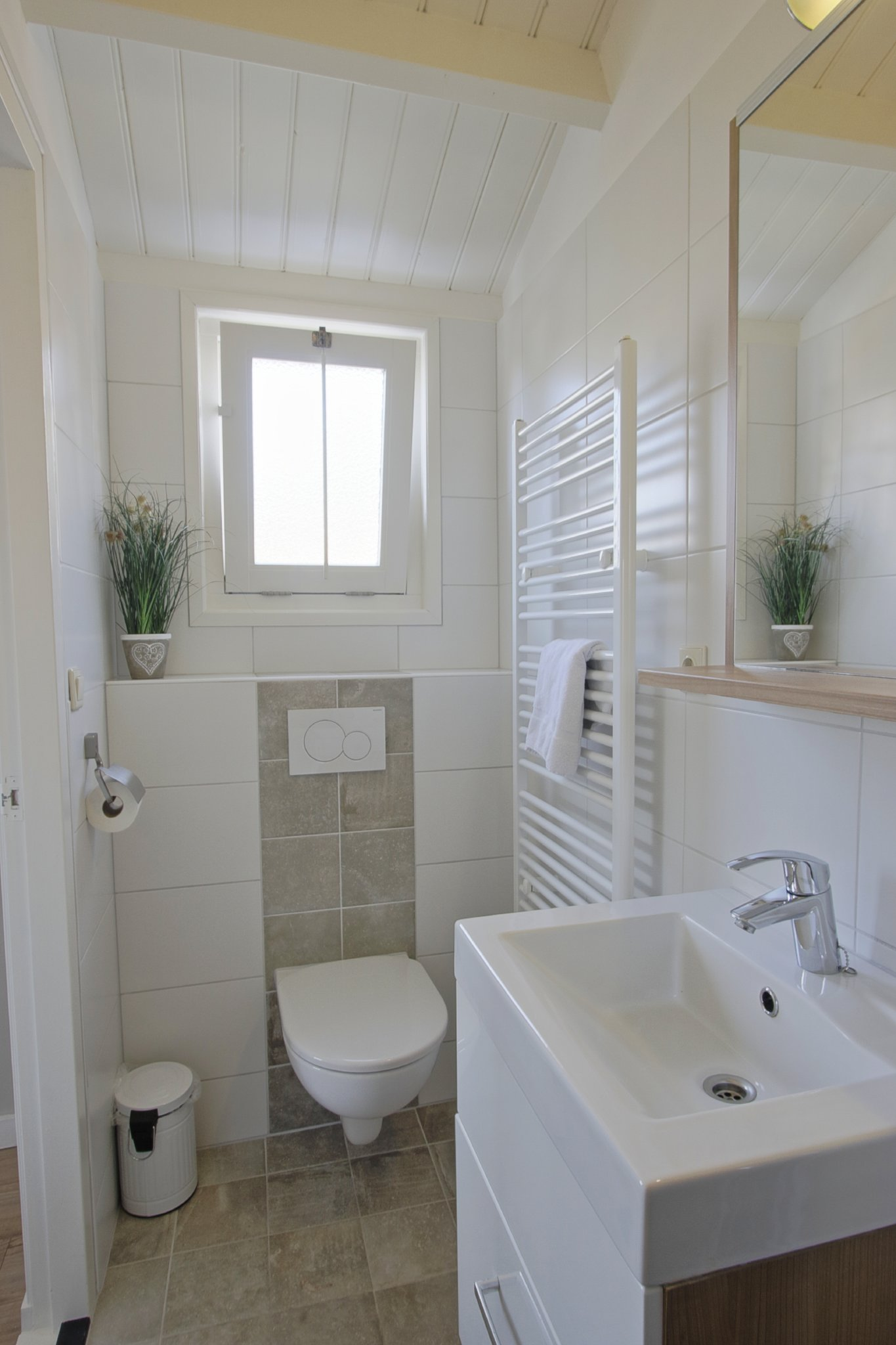 Douche und Toilette