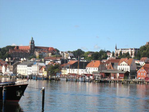 Der Innenstadtbereich von Flensburg