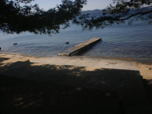 der Strand direkt vor dem Haus
