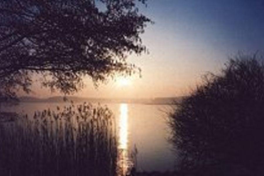 Blick von der Terrasse auf Jabeler See