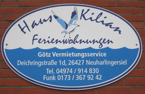 Schild Haus Kilian