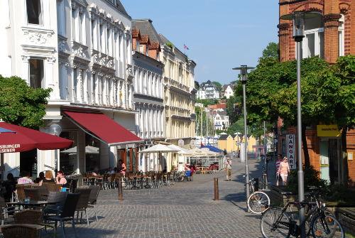 Nordermarkt / Fußgängerzone vor der Tür