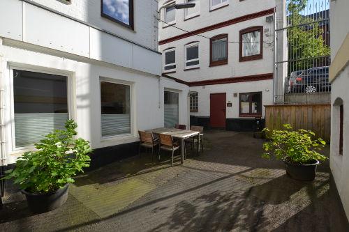 Hinterhoflage in Flensburger Altstadt
