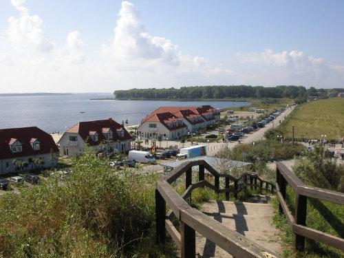 Blick auf Haff und Halbinsel Wustrow