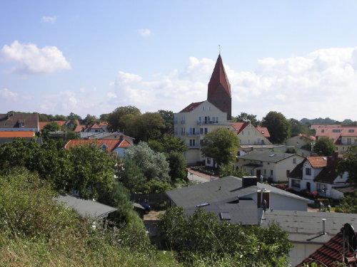 Ortspanorama mit Kurhaus und Kirche