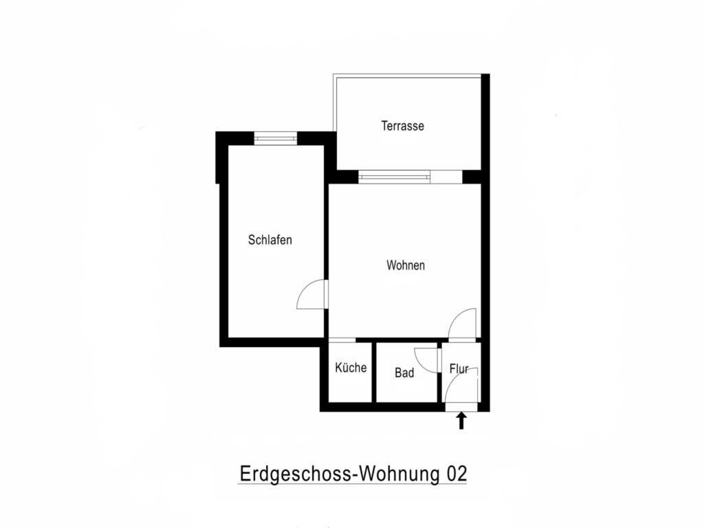 BUE - Fischer's Hus, 002 Terr 2-Raum