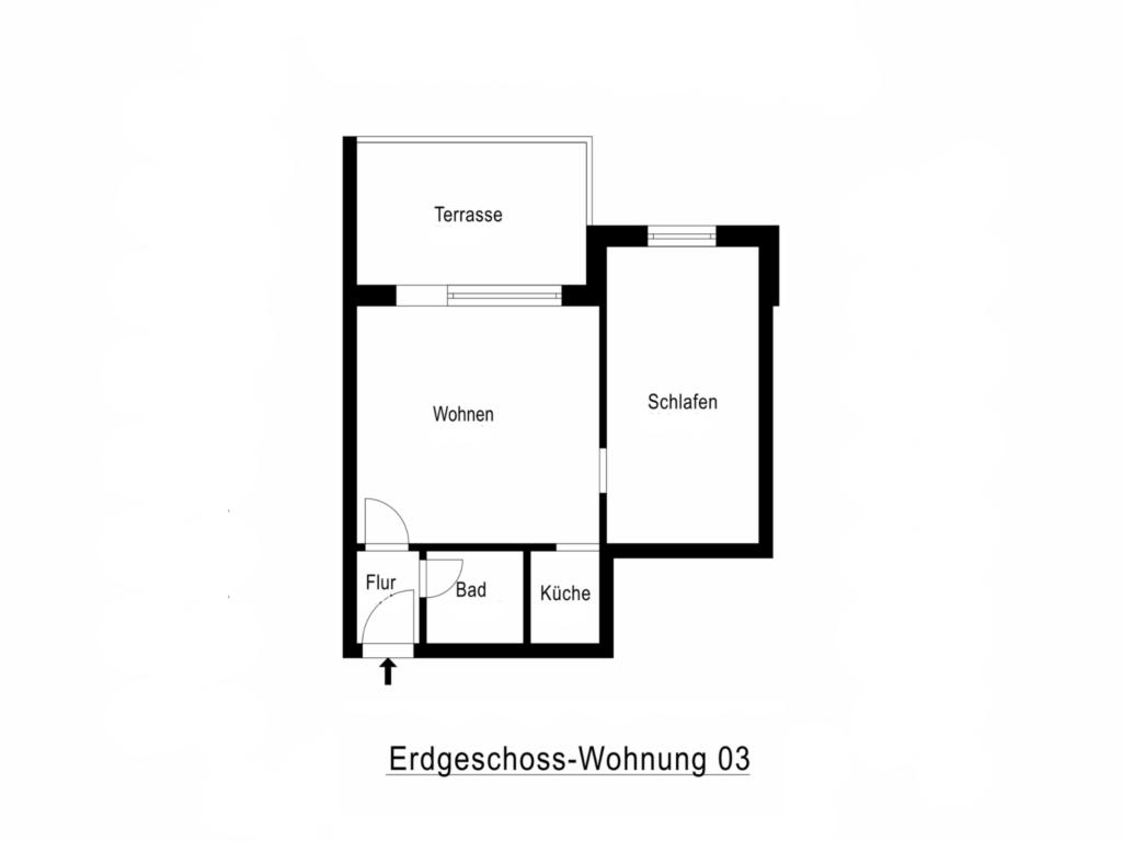 BUE - Fischer's Hus, 003 Terr 2-Raum