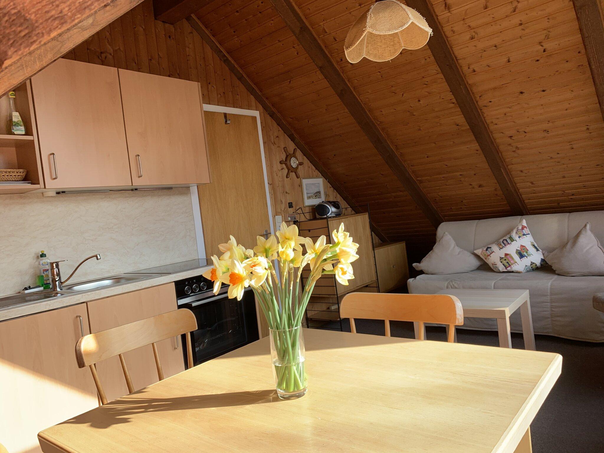 Wohnraum / Küchenzeile und Essplatz