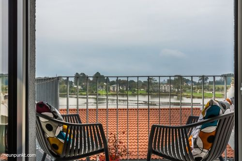 Balkon mit Panoramablick auf die Schlei