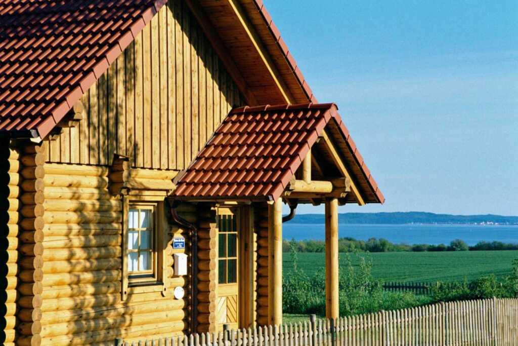 Blockhausferien R�gen - Meerblick - eigene Sauna,