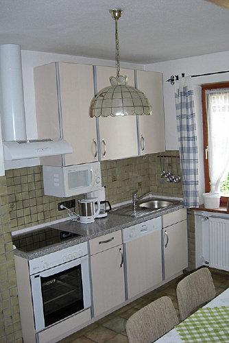 In der Küche ist viel Platz