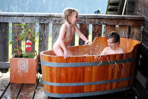 Auch die Kinder haben im Schaffel Spa
