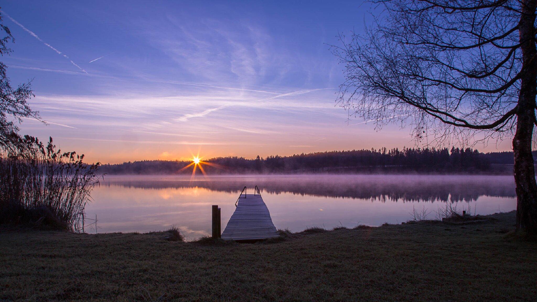 Morgenstimmung am Pelhamer-See