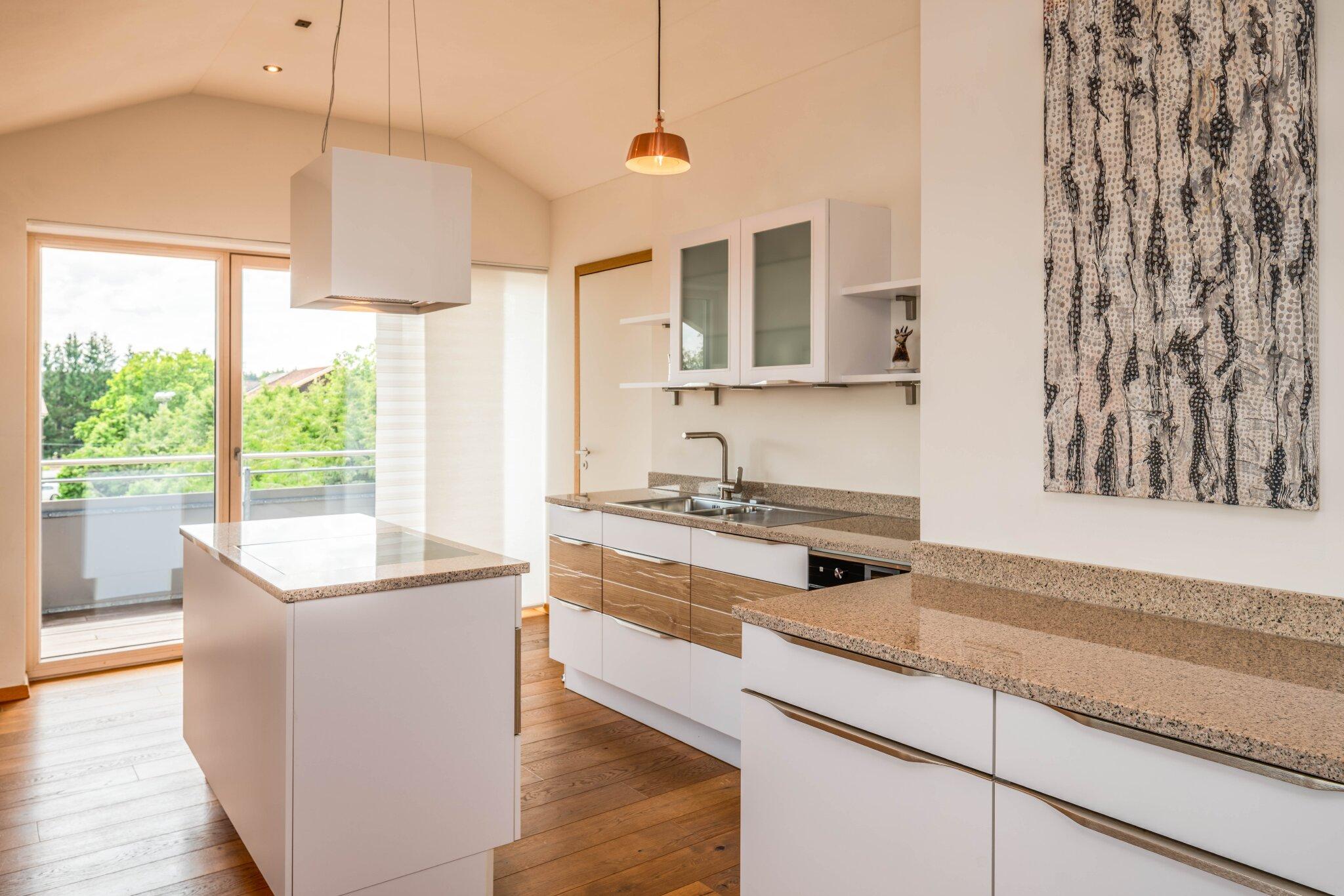 FeWo Loft 7, offene, moderne Wohnküche
