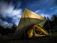 Campingplatz der Europäischen Bildungsstätte für Lehmbau, Zelt 2 in der Europäischen Bildungsstätte  in Ganzlin OT Wangelin - kleines Detailbild