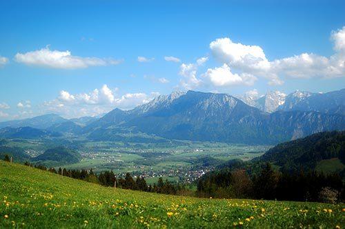 Blick in die Umgebung (Inntal u Kaiser)