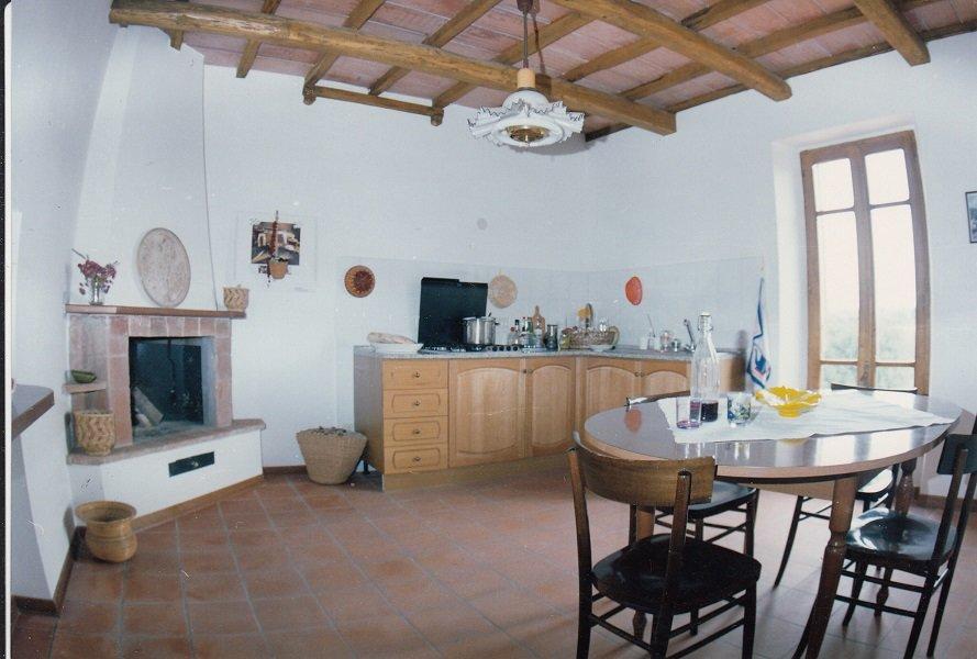 Küche mit Kamin und Schlafcouch (2 Pers.
