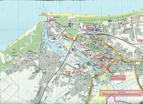 Stadtplan mit Lage der Wohnung
