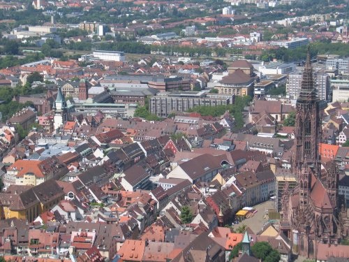 Blick auf Freiburg vom Schloberg