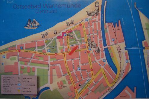 Warnem�nde Stadtplan