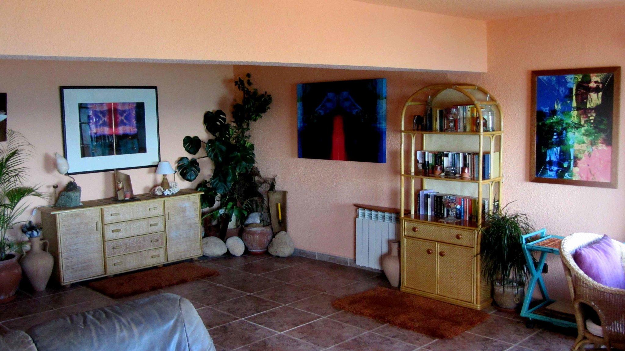 Essplatz Wohnzimmer mit Meerblick
